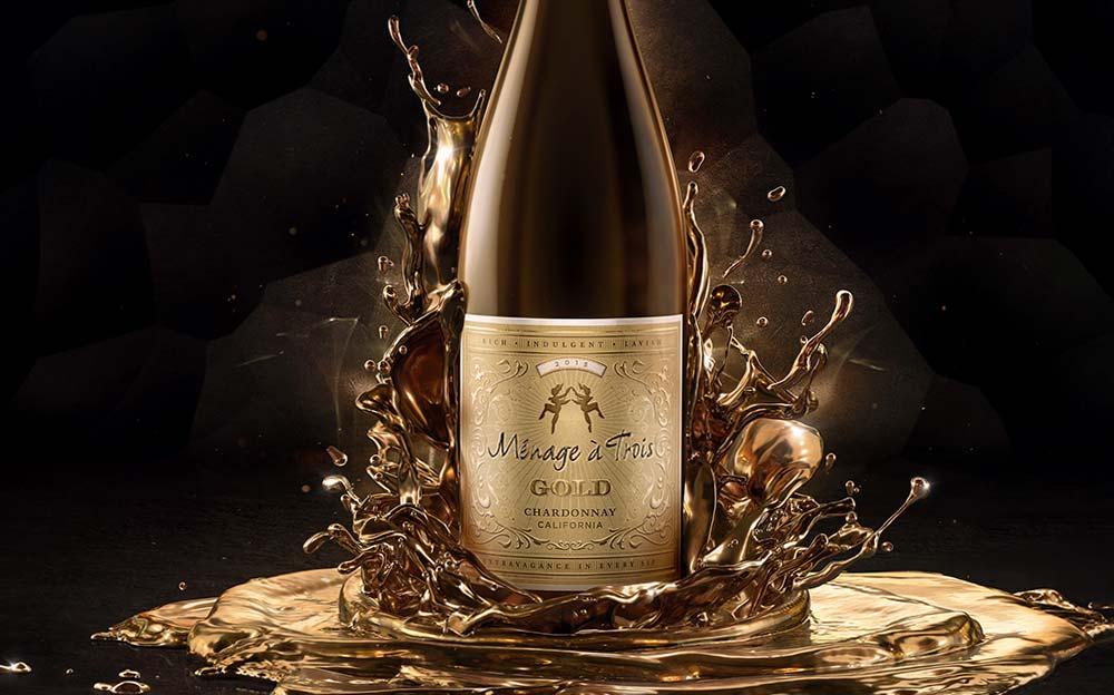 Ménage à Trois Gold <br> California Chardonnay
